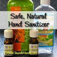 Two Ingredient All Natural Hand Sanitizer Recipe Hand Sanitizer