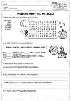 Atividades para alfabetização – Halloween (Dia das Bruxas) para o 2º ano - Nosso Clubinho