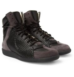 PRODUCT - Maison Martin Margiela - Leather and Suede High Top Sneakers