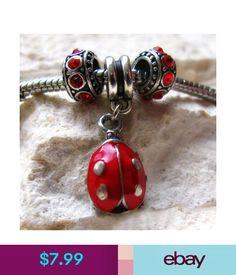 278fd0de8 Red Ladybug Charm And Birthstone Beads For Large Hole European Charm  Bracelets #ebay #Fashion