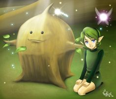 The Legend of Zelda: Ocarina of Time, Saria and The Great Deku Tree Sprout / Guardians of the Forest by VanEvil on deviantART