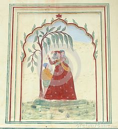 Wall Paintings In Sri Sudha rani Garden Palace.