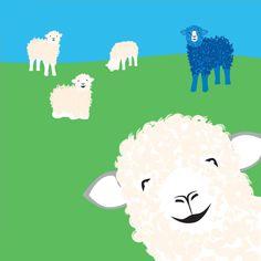 sheep illustration for children's book Sheep Illustration, Wedding Illustration, Sheep Cartoon, Cute Cartoon, Sheep Art, Sheep And Lamb, Animal Quilts, Christmas Knitting, Animal Kingdom