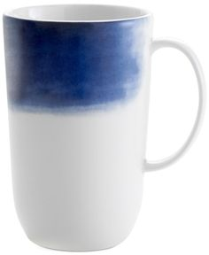 A painterly indigo border along the side of Vera Wang's Wedgwood Simplicity Indigo Ombre mug adds an elegant touch to your tabletop.   Porcelain   Dishwasher and microwave safe   Imported   Dimensions