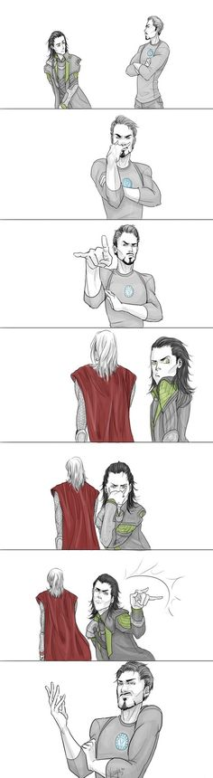 Tony is Lin Beifong, Loki is Korra, and Thor is Tenzin. Hilarious mashup. @Kaila Raulston
