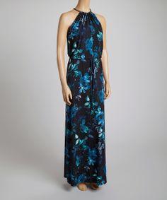 Vince Camuto blue floral maxi