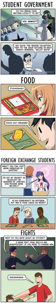 Reasons Why High School is Way Better in Anime #dorkly #comics #highschool