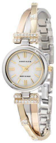 Anne Klein Women's 10/9479MPTR Tri-Tone Bangle Watch with Swarovski Crystal Accents, http://www.amazon.com/dp/B006M6M6OO/ref=cm_sw_r_pi_awdm_M-OCub16CEWGE