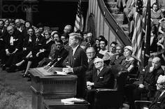President John F. Kennedy at the Mormon Tabernacle in Salt Lake City, September 22, 1963.