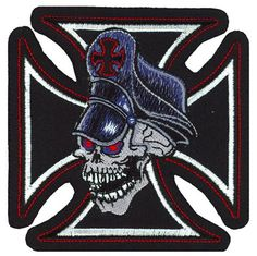 Lethal Threat embroidered patches are the most detailed and sought after patches in the Biker market place. Each patch has a heat seal backing for iron on appli Custom Patches, Skull, Darth Vader, Iron, Denim Cotton, Embroidered Patch, Sewing, Banks, Mini