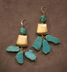 TRU Expression Earrings~  Turquoise- protective, grounding, confidence