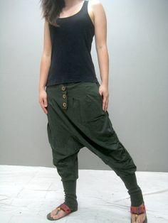 NEW ZATO ninja pant green van thaitee op Etsy