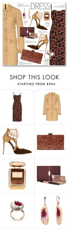 """PERFECT PARTY DRESS"" by nanawidia ❤ liked on Polyvore featuring Dolce&Gabbana, MARC CAIN, Le Silla, Edie Parker, By Terry, partydress, polyvoreeditorial and polyvorecontest"