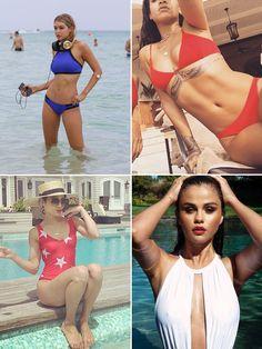 Selena Gomez, Rihanna & More Celebs In Their Hottest Red, White & BlueBikinis