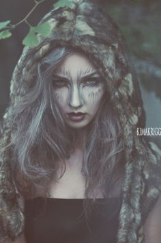 wolf girl...looking for ideas for my wolf costume, and my nature one...this captures both! Awesome