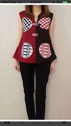 Ideas Skirt Outfits Chic Blouses For 2019 Batik Fashion, Ethnic Fashion, African Fashion, Blouse Batik Modern, Chic Outfits, Fashion Outfits, Skirt Outfits, Batik Pattern, Moda Vintage