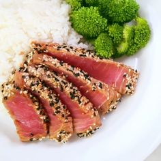 This beautiful Tuna recipe is perfect for a special weekend dinner! This beautiful Tuna recipe is perfect for a special weekend dinner! Fresh Tuna Recipes, Cucumber Recipes, Sushi Recipes, Seafood Recipes, Asian Recipes, Healthy Dinner Recipes, Cooking Recipes, Recipes For Tuna Steaks, Vegetarian Recipes
