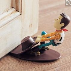 Have you seen this Woody doorstop? Isn't it AMAZING? I think it is from Disney Japan pic credit Pinterest #woody #toystory #disneyhome #Disney #disneyuk #disneylife #disneyfind #disneyland #disneyworld