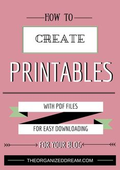 How To Create Printables. Super simple and easy tutorial. Printable Planner, Free Printables, Make Money Blogging, How To Make Money, Blogging Ideas, Affiliate Marketing, Email Marketing, Inkscape Tutorials, Clay Tutorials
