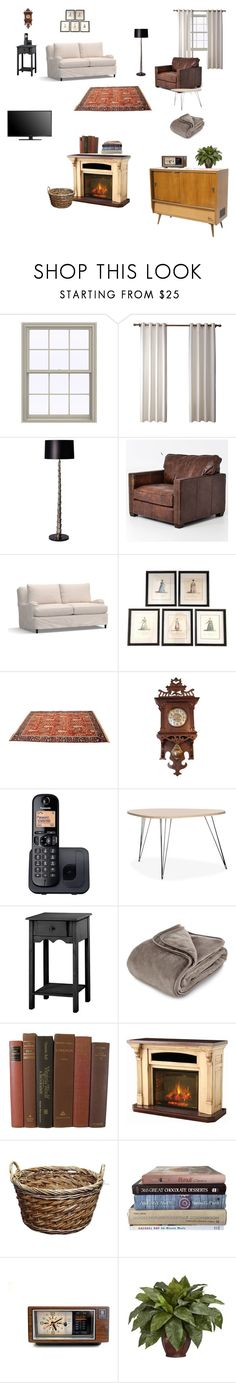 """Shaun the sheep living room"" by suecia on Polyvore featuring interior, interiors, interior design, hogar, home decor, interior decorating, Heathfield & Co., Pottery Barn, Panasonic y Brookstone"