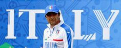 """Head coach Antonio Conte looks on during the Italy training session at """"Bernard Gasset"""" Training Center on June 16, 2016 in Montpellier, France."""