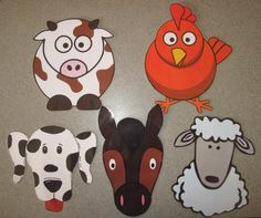 Farm Animals from Sunflower Storytime - Muddy Pigs? Animal Crafts For Kids, Toddler Crafts, Kids Crafts, Farm Activities, Preschool Farm, Preschool Ideas, Preschool Transitions, Preschool Music, Farm Songs