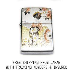 GEISHA MAIKO SAN ENGRAVING AUTHENTIC ZIPPO JAPAN LIMITED MODEL
