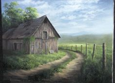 Have you ever seen photos of old barns and wondered how to paint them? Watch Kevin as he shows you how to paint this detailed barn by a winding road with wooden fence posts. For more information about full length DVD lessons, please visit: www.paintwithkevin.com