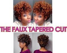 Two Ways to Achieve a Faux Tapered Cut  Read the article here - http://www.blackhairinformation.com/general-articles/hairstyles-general-articles/two-ways-achieve-faux-tapered-cut/