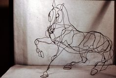 Wire sculpture by Legendary Walt Disney animator Andreas Deja
