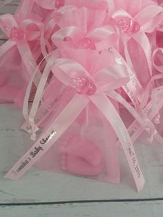 Baby Shower Soap Favors - Baby Feet Soap Baby Shower with Personalized Ribbons, Gender Reveal Baby Shower Scented Soap Gifts Pack of 10