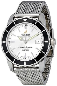 Breitling Superocean Heritage 42 Silver Dial Mens Watch A1732124-G717SS