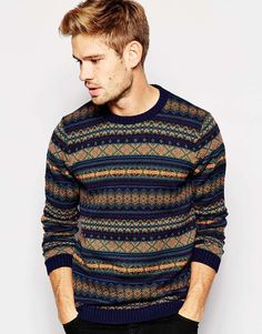 Image 1 of ASOS Jumper with Fairisle Pattern