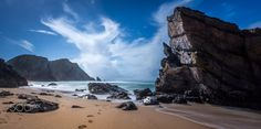Footsteps in the Sand - 8.4' long exposure during the day in Praia da Adraga, Portugal