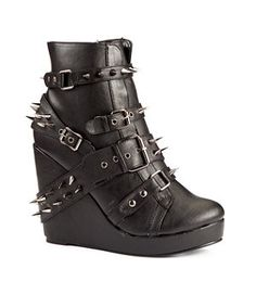 Black Abbey Dawn Spike Studded Ankle Boots, £100 at New Look