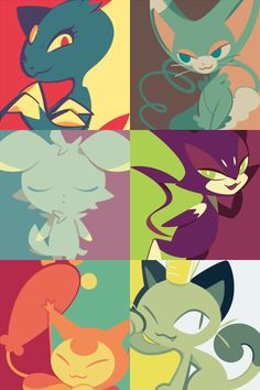 love these colors! ♥ Pokemon