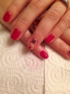 CND Shellac reindeer christmas nails