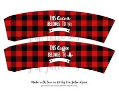 Baby, its cold outside. Warm up with a cup of steaming hot cocoa or a pumpkin spice latte by a cozy fire. These adorable 4 designs of coffee sleeves are the perfect addition to any Christmas party! They are a part of our Cocoa & Coffee Bar Package!  You are free to print as many copies of these files as needed. No items will be shipped. The files will be available for automatic download after your purchase. To open the PDF file, you will need Adobe Reader which is a free download from ado...