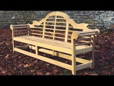 ▶ The handcrafted Lutyens wooden bench by Woodcraft UK - YouTube