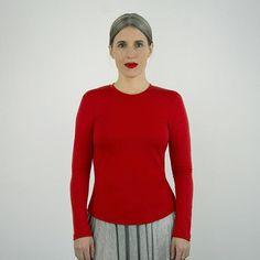 Glacial Tee 203, sewing pattern. mid length body, bracelet length sleeve.