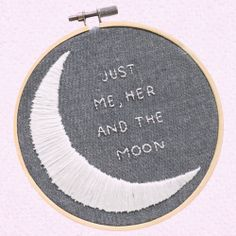 """You & Me & The Moon""   (when I look in your eyes/I go soft inside/and the sound of your voice/sends shivers up my spine/and at the slightest touch/we're in love/you, me and the moon)"