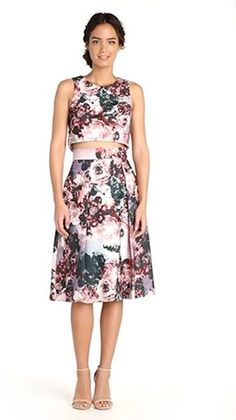 God help me but I am actually loving thisTwo-Piece Dress in Clove Floral Print