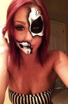 My Halloween face paint!                                                                                                                                                                                 More