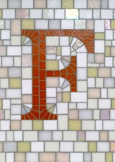 Mosaic Letter F- The Tieton Alphabet  Tieton Mosaic is a mosaic sign company in Tieton, WA specializing in typographic glass mosaic signage