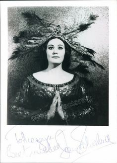 Signed photo of the star Australian soprano (1926-2010), shown as Lakme, 5 x 7…