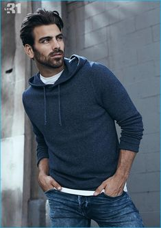 Nyle DiMarco for Simons.
