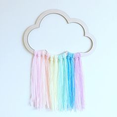 Cloud Wall Hanger Cloud Wall Mobile Cloud Decor Scandi