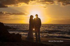 Maui  Wedding sunset in Makena