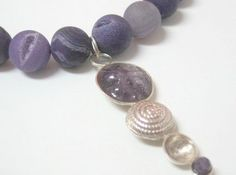 Elegant necklace Agate Necklace Geode necklace Amethyst by Viyoli