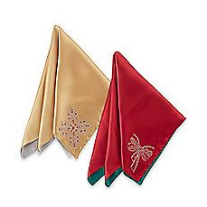 image of Waterford® Linens Holiday Napkins (Set of 4)